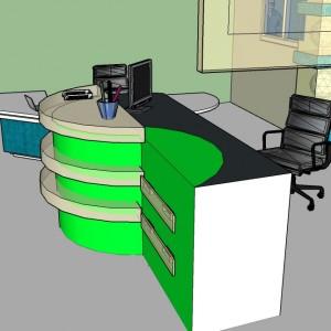 office room- project by Krystian Duc